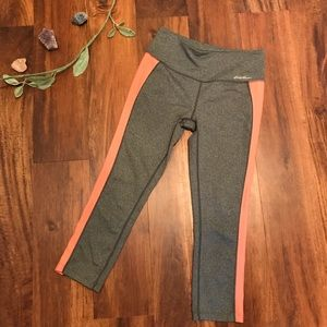 Eddie Bauer Gray And Pink Cropped Leggings